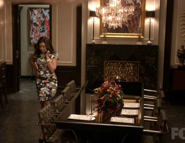 Cookie Lyon in the dining room on Empire