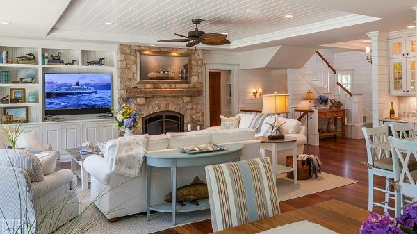 Shingled house with aqua shutters on Cape Cod   hookedonhouses.net