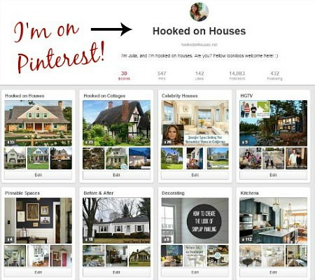 Hooked on Houses Pinterest page