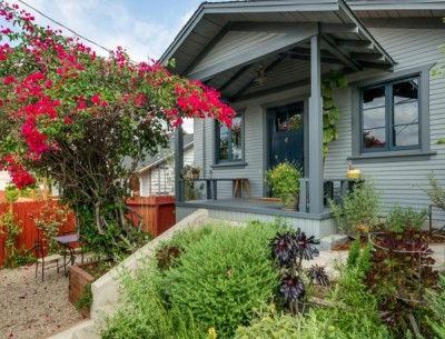 A Little Blue Bungalow For Sale in Los Feliz
