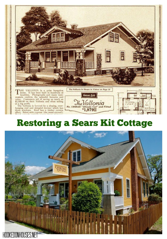 Restoring a Sears Kit Home from the Early 1900s in North Carolina: A Vallonia Model Known as Croatan Cottage Today | Tour on hookedonhouses.net