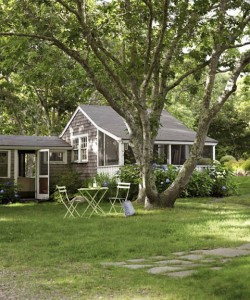 Tony Shalhoub and Brooke Adams Cottage on Martha's Vineyard Exterior