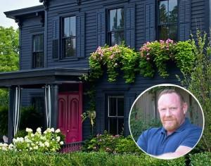 Designer Roger Hazard's Black Victorian with a Pink Door