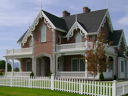 New House Built with American Gothic Revival Style