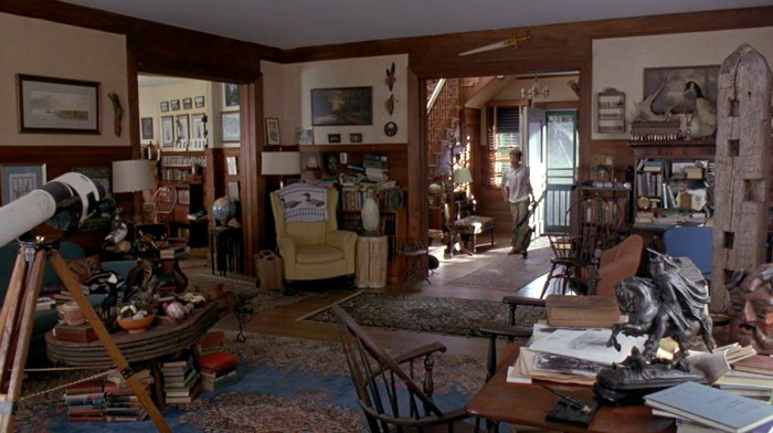 inside the house from Man Without a Face movie