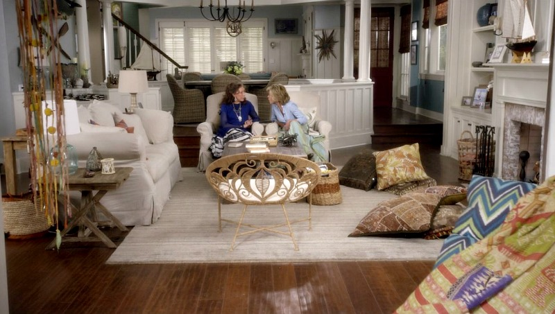 Grace and Frankie's Beach House Living Room