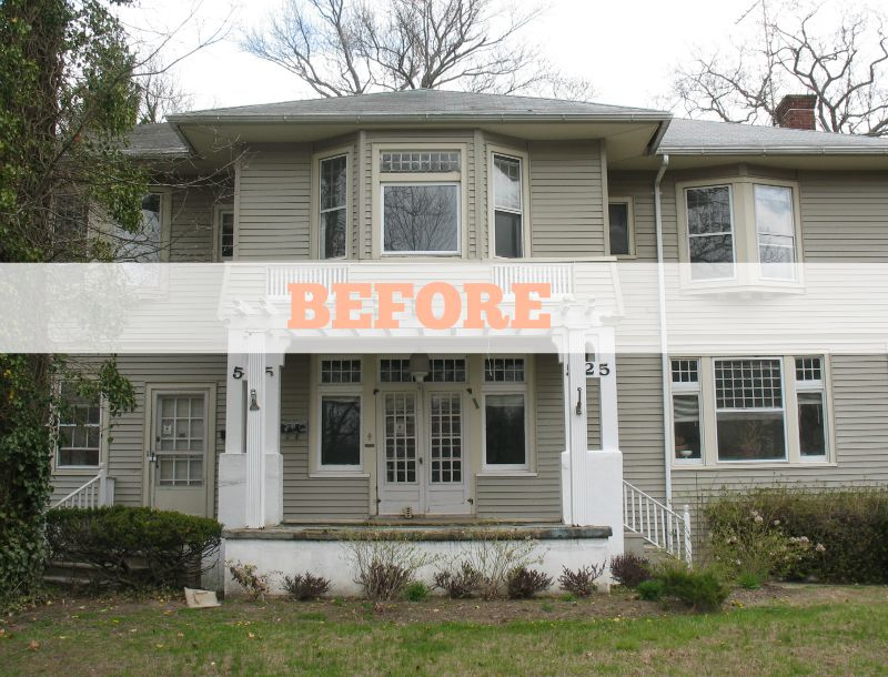 Renovating an american foursquare in allenhurst for American remodeling