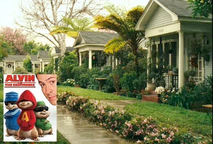 Alvin and the Chipmunks movie set design