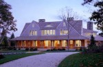 front exterior of Shingle style Cape Cod summer house