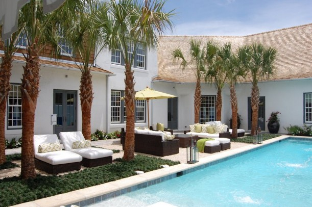 A large pool behind Coastal Living's Ultimate Beach House 2012 in Florida