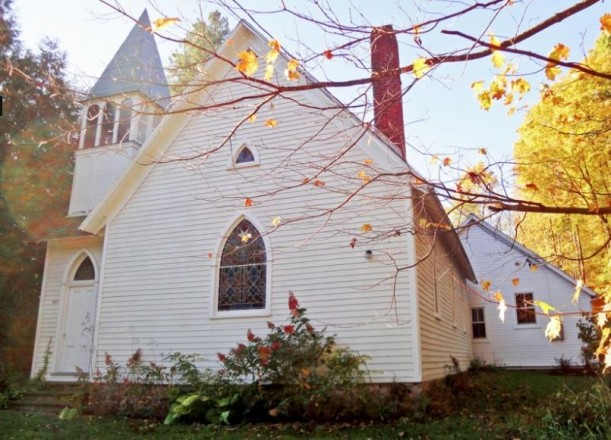 old country church converted into a house for artist Ayumi Horie