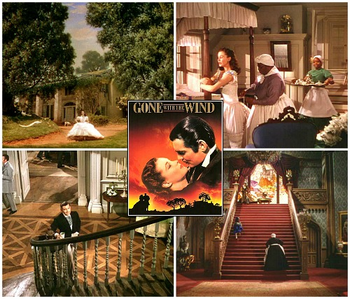 Gone with the Wind movie houses and sets