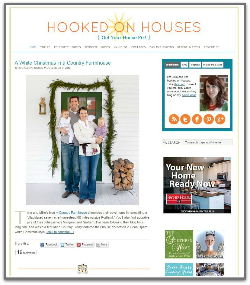 Hooked on Houses front page 2012 with star logo