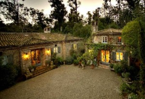 overhead view of Penelope Bianchi's house and guest house in Santa Barbara