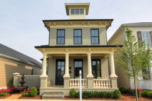 front exterior of the Stonecroft Southern Living model at Norton Commons