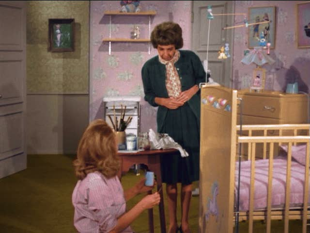 "Tabitha's nursery on the TV show ""Bewitched"""