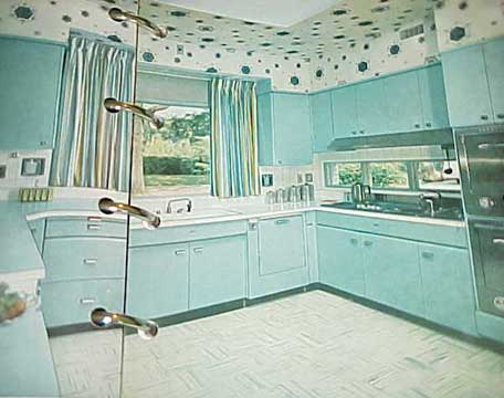 blue kitchen from 1956