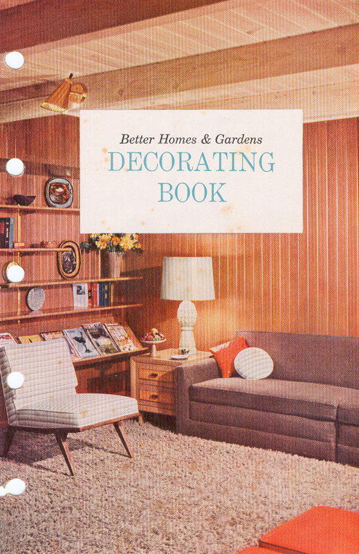 cover of old Better Homes and Gardens Decorating Book from 1956