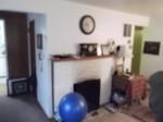 blurry photo of fireplace