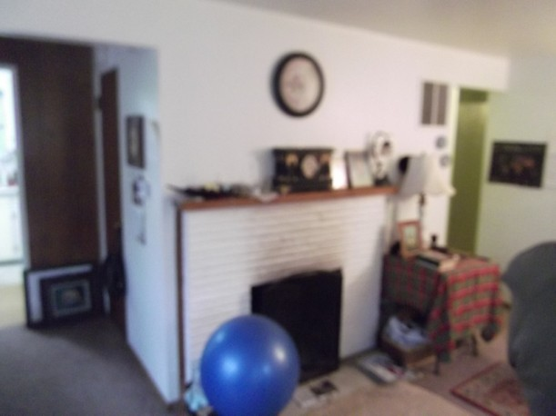 blurry photo of fireplace