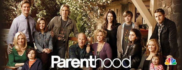 promotional poster for TV show Parenthood with cast photo