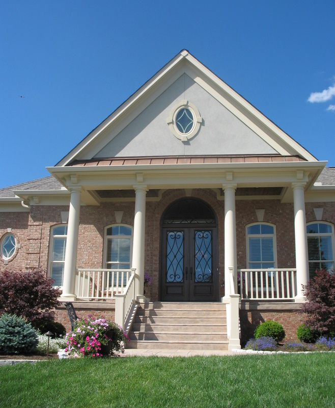 large house with porch