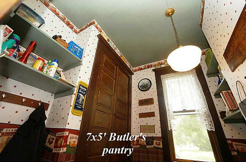 double doors leading to butlers pantry