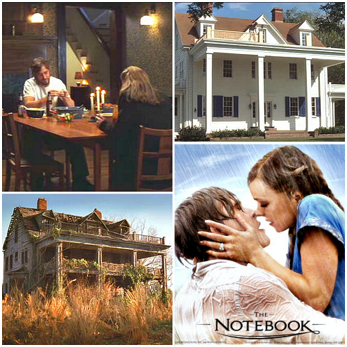 The Notebook movie houses