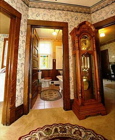 grandfather clock in upstairs landing