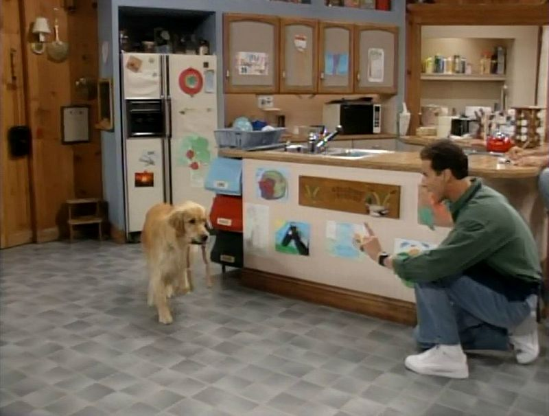Bob Saget and Comet in Tanner kitchen