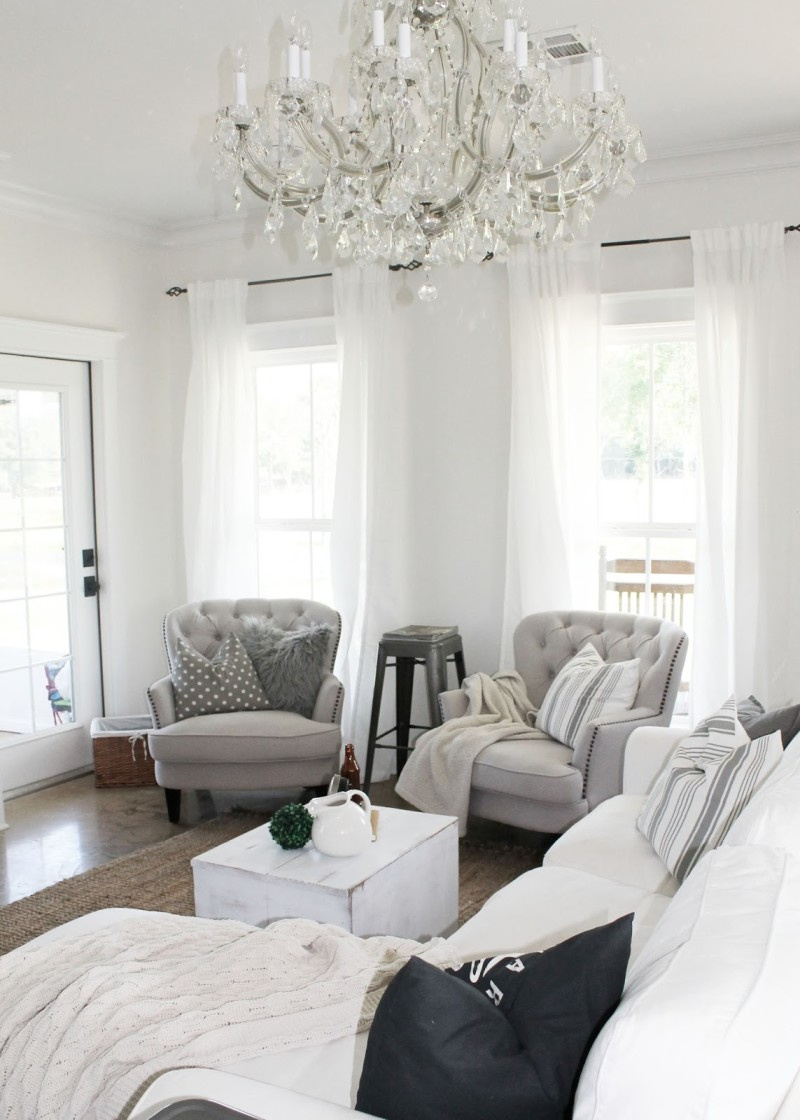 two armchairs in living room