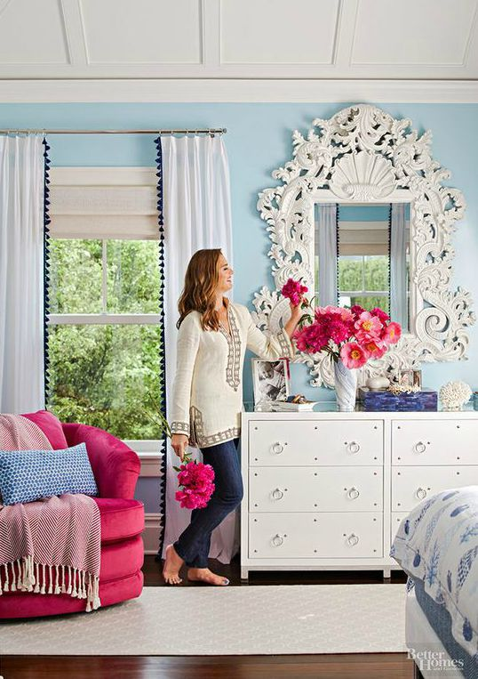 Brooke Shields bedroom in Better Homes and Gardens