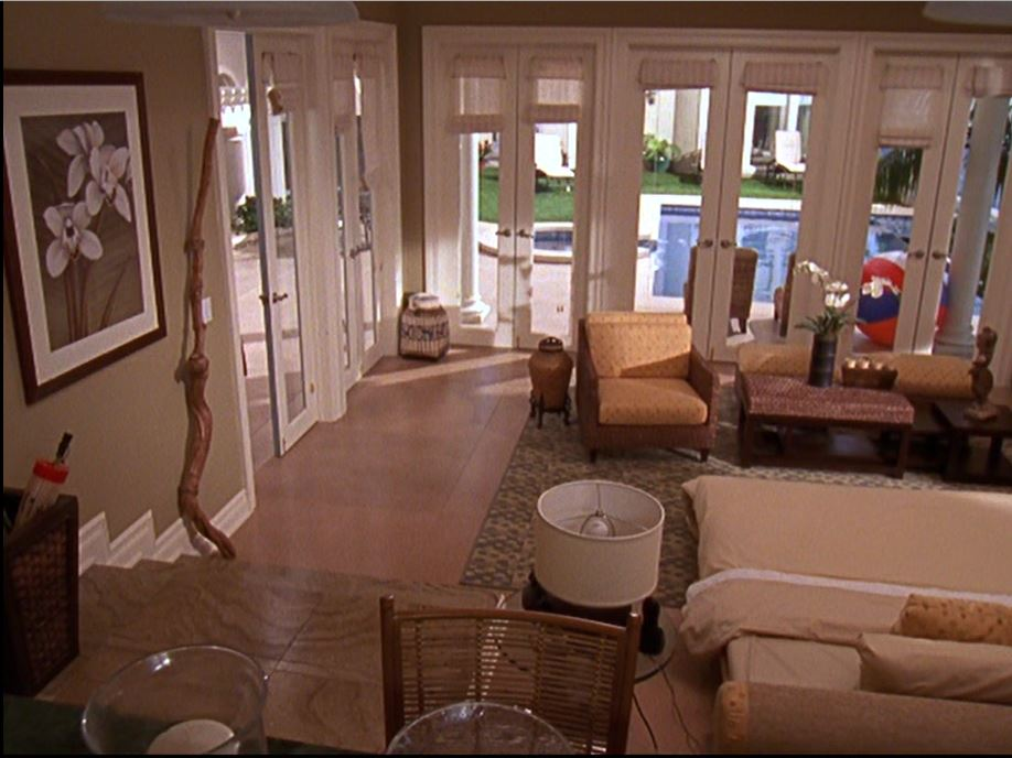 Ryan's poolhouse on The O.C. TV Show