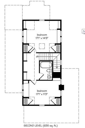 Sugarberry Cottage floor plan