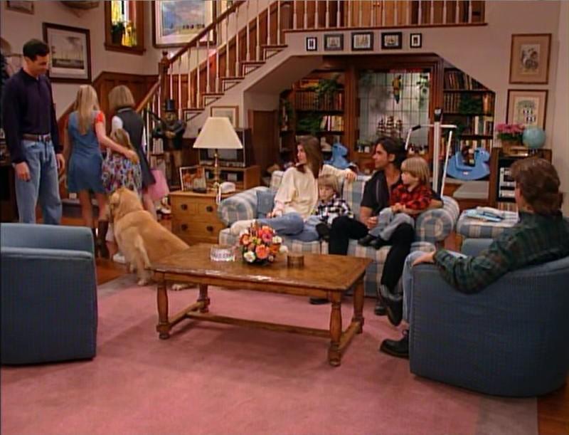 Tanner Family Living Room in Series Finale Full House