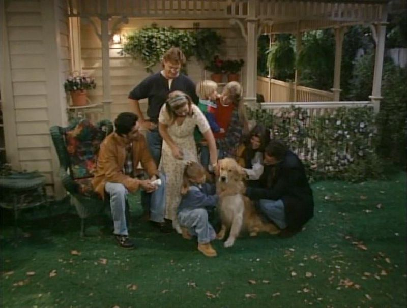 Tanner backyard on Full House final season