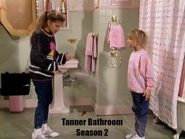 Tanner family bathroom Season 2 Full House