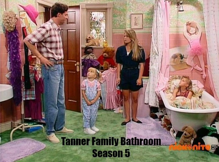 Tanner family bathroom Season 5 Full House