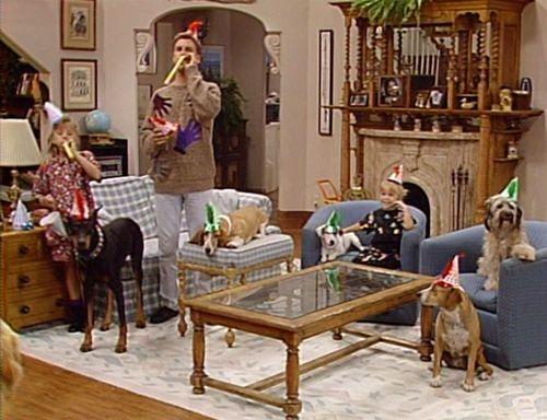 Tanner family living room fireplace Full House