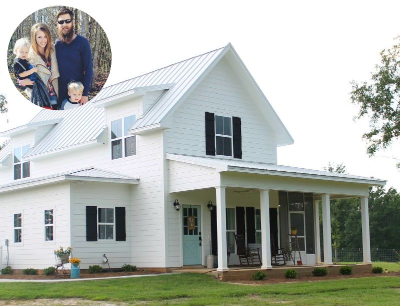 Brittany york 39 s sugarberry farmhouse in louisiana for Custom farmhouse plans