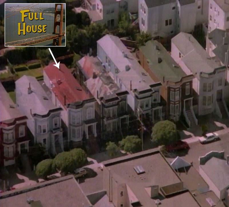 aerial view of Broderick Street in unaired pilot credits