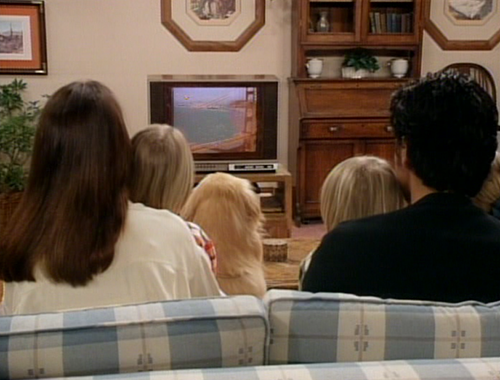 fourth wall of Tanner living room on Full House