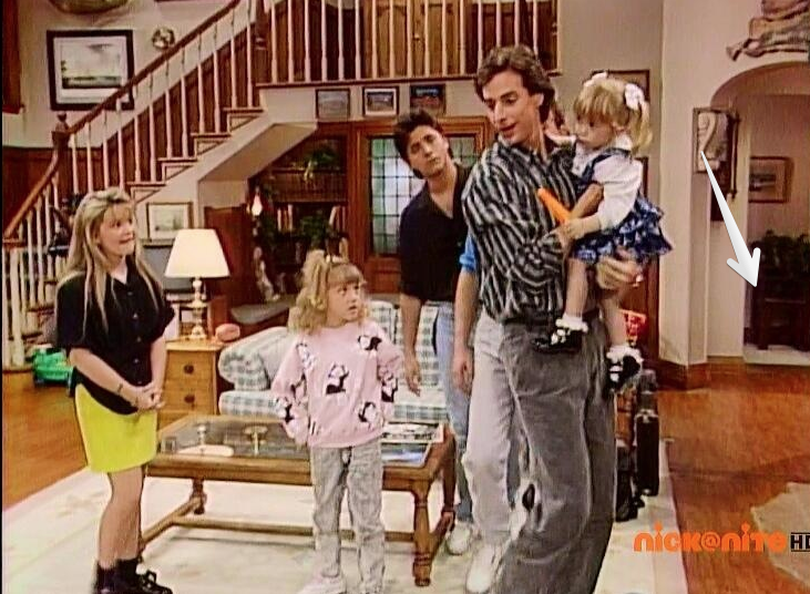 mystery stairs to basement on Full House