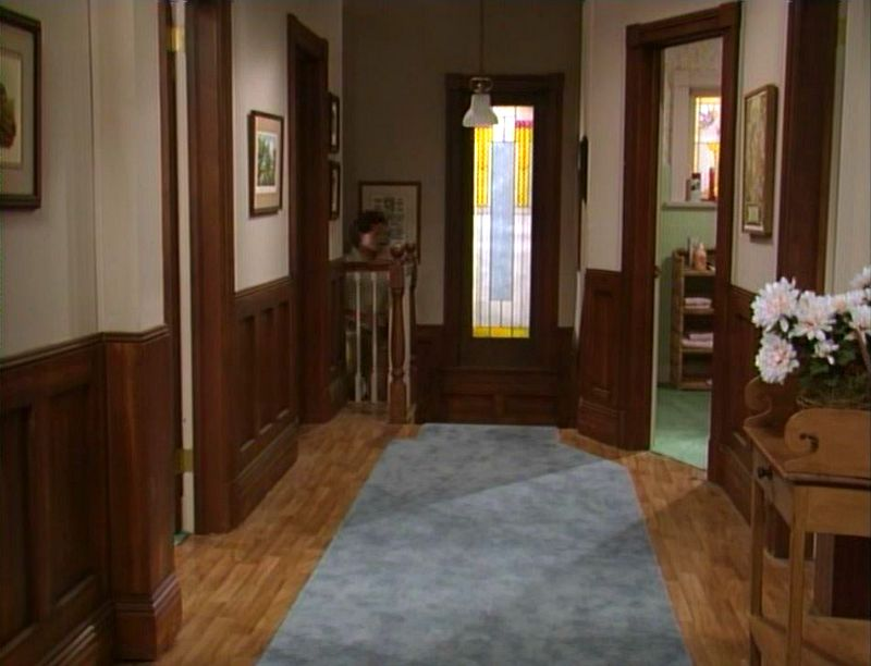 upstairs hallway in unaired pilot