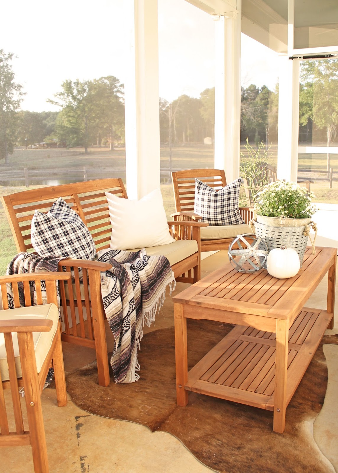 Brittany's screened porch