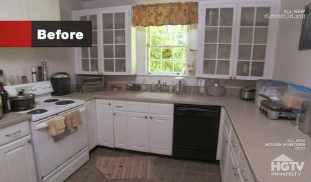 kitchen before makeover on Love It or List It