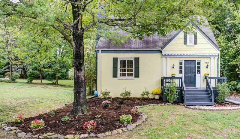 Matt and Marci's yellow bungalow for sale