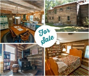 Collage of photos of Civil War Era Log Home for sale in West Virginia