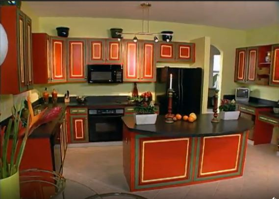 doug wilson's red and green kitchen