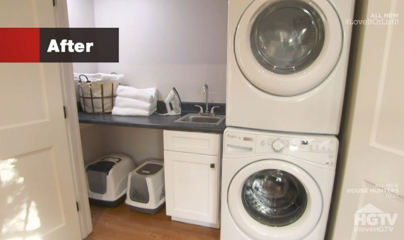 New laundry room on Love It or List It